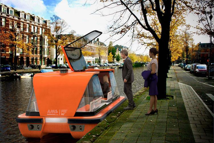 Roboat, barche elettriche a guida autonoma. Un servizio di taxi.