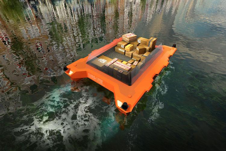 Roboat, barche elettriche a guida autonoma. Un servizio di delivery.